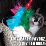 GOTZ PARTY FAVORZ…