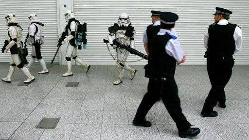 Stormtroopers passing UK Police