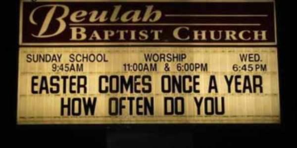 How often do YOU come?