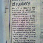 Nigerian Scapegoats