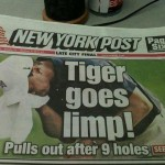Tiger Woods Goes Limp