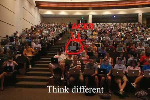 Think Different: Not Like All Those Sheep Using Macs