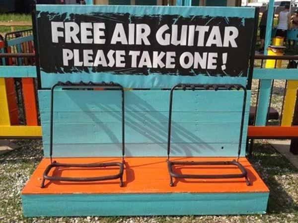 Free Air Guitar --- Please Take One!