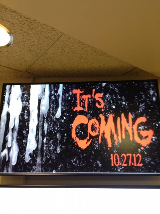 It's Coming 10/27/2012