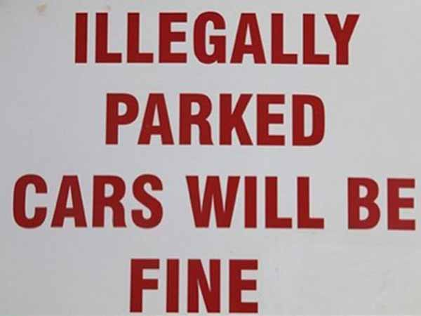Illegally Parked Cars Will Be Fine