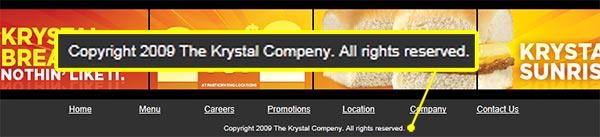 Krystal Compeny: The Krystal Company's Misspelling on their Corporate Website