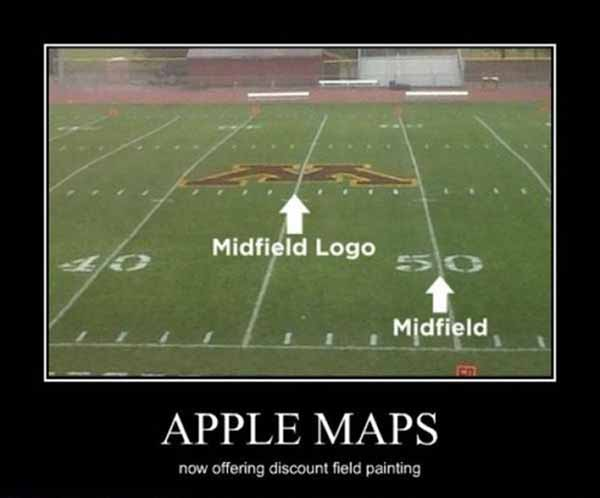 Apple Maps: Now Offering Discount Field Painting