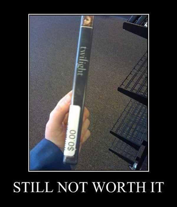 Twilight DVD $0.00 : Still not worth it.