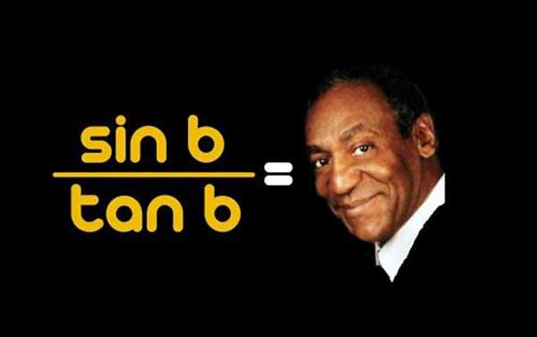sin b / tan b = cos b