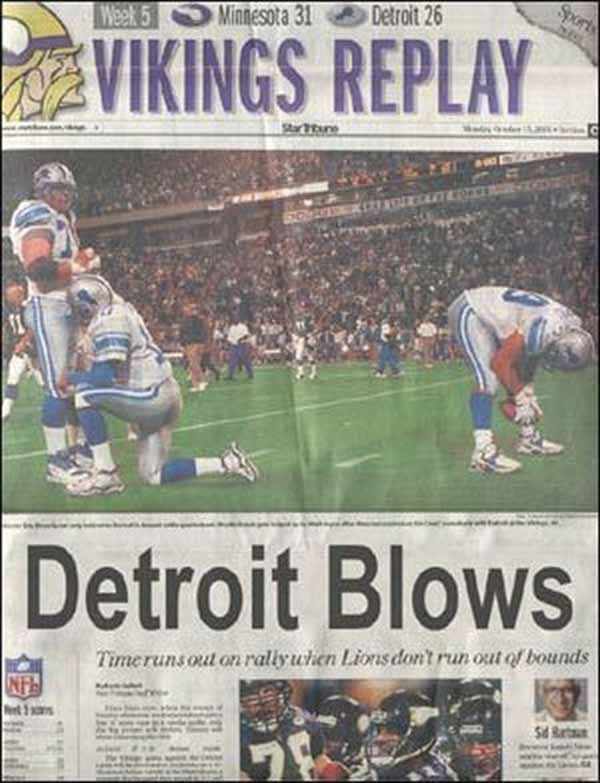 Detroit Blows: Time runs out on rally when Lions don't run out of bounds