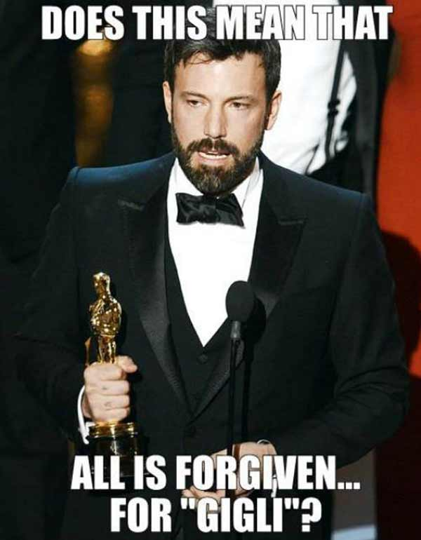 """Afleck: """"Does this mean that all is forgiven for """"Gigli?"""""""
