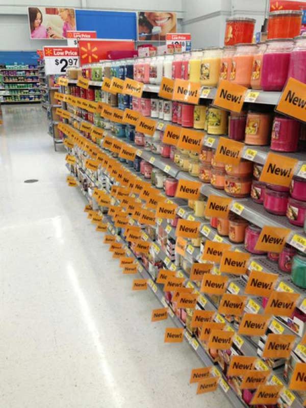 WalMart Candles: NEW! NEW! NEW! NEW! NEW!