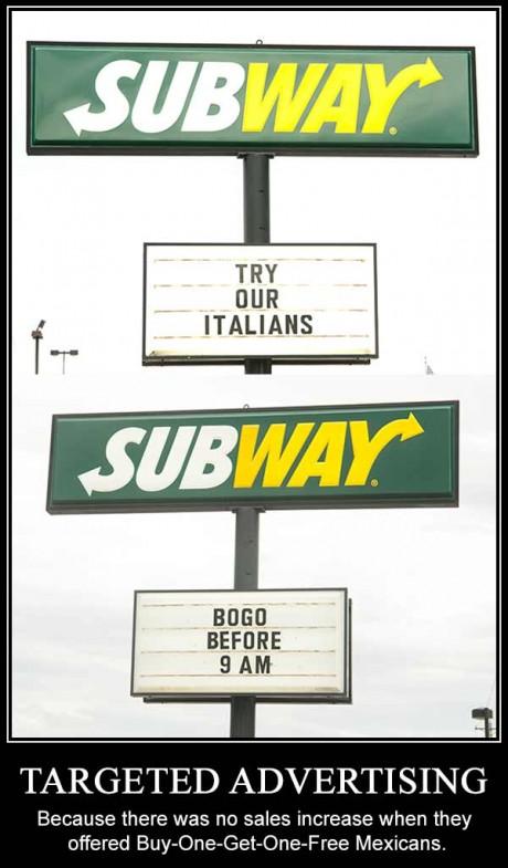 Racist Subway Ads