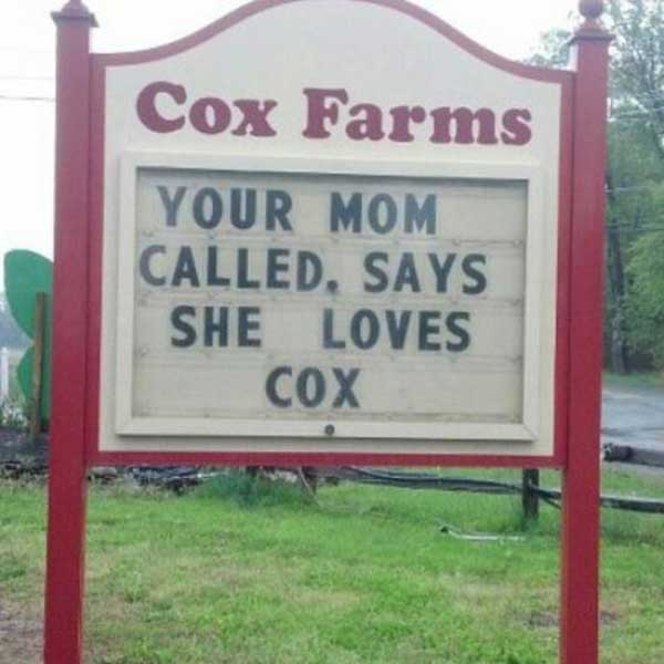"""Cox Farms Advertising: """"Your Mom Called, Says She Loves Cox."""""""