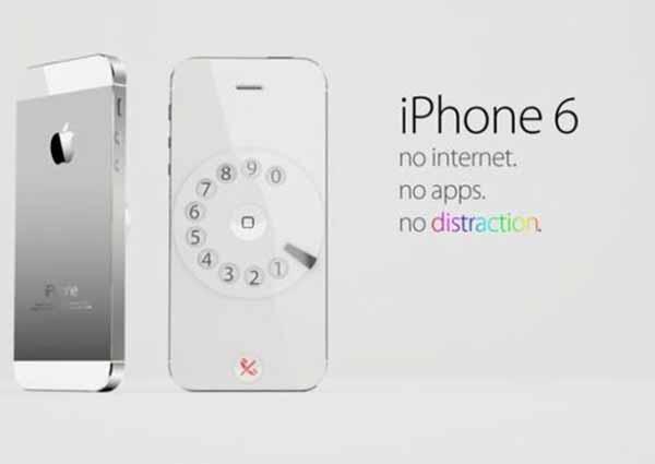 iPhone 6: No Apps.  No Internet.  No distractions.