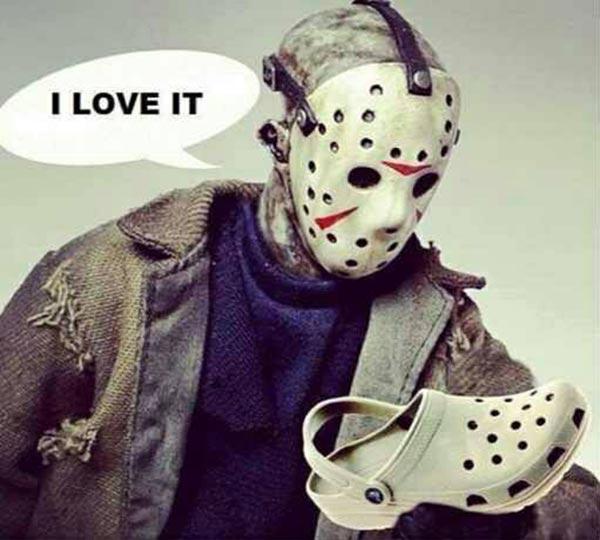 """Jason Voorhees on Crocs: """"I love it"""""""