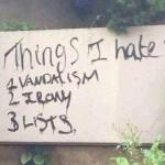 Ironic Vandalism