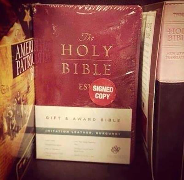 """The Holy Bible, ESV.  """"Signed Copy"""""""