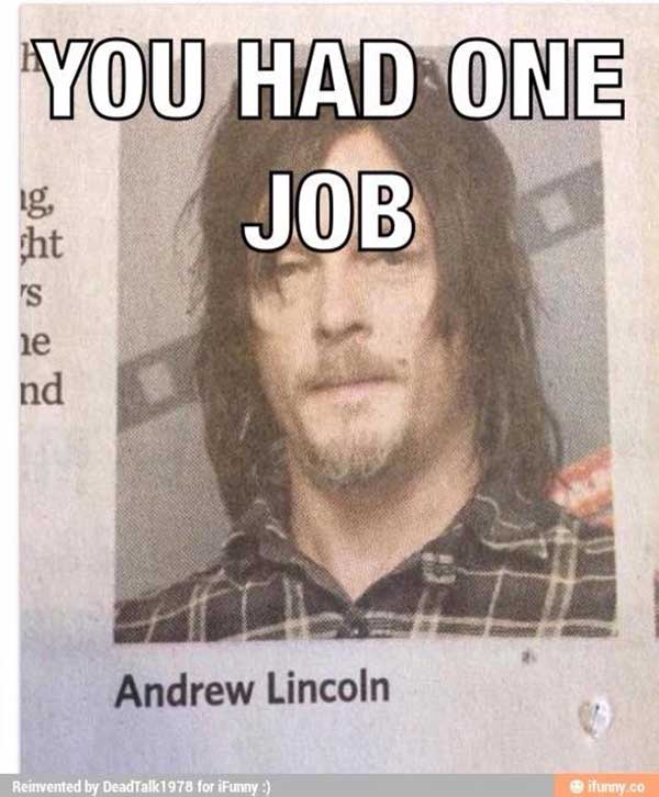 You Had One Job: Norman Reedus credited as Andrew Lincoln