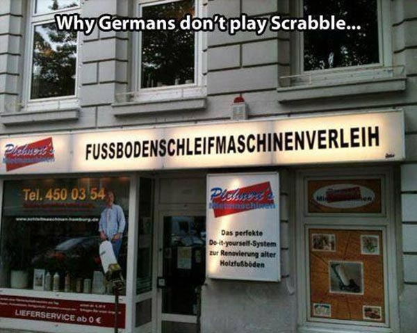 Why Germans Don't Play Scrabble: FUSSBODENSCHLEIFMACHINENVERLEIH - Floor Sanding Machine Rental