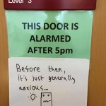 Are Your Doors Alarmed?